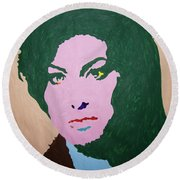 A J Winehouse Round Beach Towel