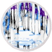A Winters Day Round Beach Towel