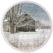 A Winters Day Square Round Beach Towel