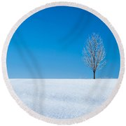 A Winter's Landmark Round Beach Towel