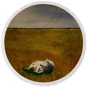 A Wolf Story Round Beach Towel