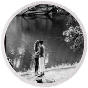 A Beautiful Moment Round Beach Towel