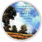 A Word Of Hope Round Beach Towel