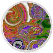A World Of Lollipops Round Beach Towel