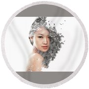 A World Within Me Round Beach Towel