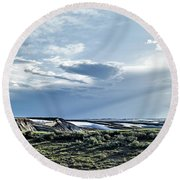 A Yellowstone Np Mesa Round Beach Towel