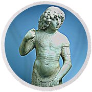 A Young Warrior, Tullio Lombardo Poster 2 Round Beach Towel