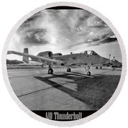 A10 Thunderbolt Round Beach Towel