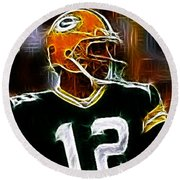 Aaron Rodgers - Green Bay Packers Round Beach Towel