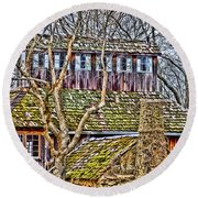 Abandoned House-don Robinson State Park-enhanced Round Beach Towel