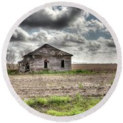 Abandoned House - Ganado, Tx Round Beach Towel