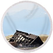 Abandoned In A Sea Of Mining Tailings Round Beach Towel