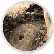 Abandoned Mill-stone Round Beach Towel