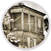 Abandoned Plantation House #4 Round Beach Towel