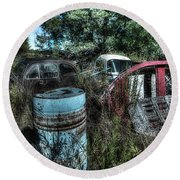 Abandoned Vehicles - Veicoli Abbandonati  1 Round Beach Towel