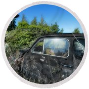 Abandoned Vehicles - Veicoli Abbandonati  2 Round Beach Towel