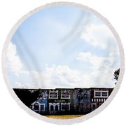 Abandonment Row Round Beach Towel