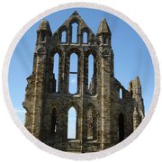 Abbey At Whitby  Round Beach Towel