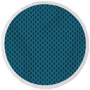 Abby Damask In Black Pattern 18-p0113 Round Beach Towel