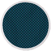 Abby Damask With A Black Background 18-p0113 Round Beach Towel