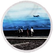 Abby Road By The Bay Round Beach Towel