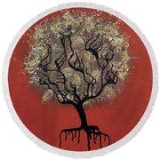 Abc Tree Round Beach Towel