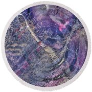 Abcollage Round Beach Towel