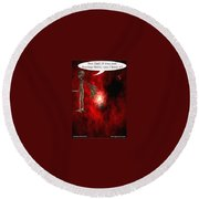 Abducted Round Beach Towel