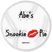 Abe-confetti Kiss Round Beach Towel