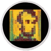 Abe In Yellow Round Beach Towel