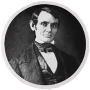 Abe Lincoln As A Young Man  Round Beach Towel