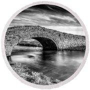 Aberffraw Bridge V2 Round Beach Towel