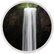 Abiqua Falls Round Beach Towel