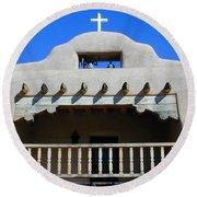 Abiquiu Church Number 2 Round Beach Towel
