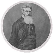 Abolitionist John Brown Round Beach Towel by War Is Hell Store