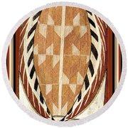 Aboriginal Bark Painting  Round Beach Towel