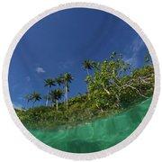 Blue Palette  Round Beach Towel