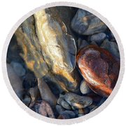Above And Below Water Two  Round Beach Towel