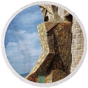 Above Barcelona Round Beach Towel