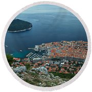 Above Dubrovnik - Croatia Round Beach Towel