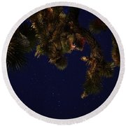 Above Me Round Beach Towel