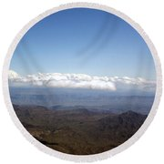 Above Nevada Round Beach Towel