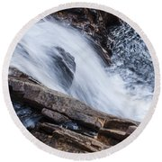 Above Small Falls Round Beach Towel