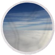 Above The Clouds I Round Beach Towel