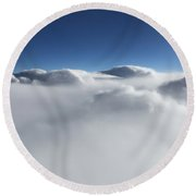 Above The Clouds II Round Beach Towel
