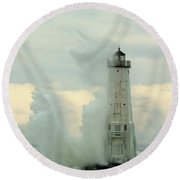 Above The Top Round Beach Towel