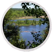 Above The Trees Round Beach Towel