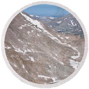 Above Treeline Round Beach Towel