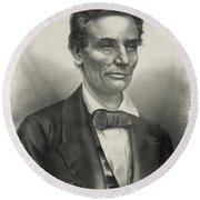 Abraham Lincoln - As A Presidential Candidate Round Beach Towel