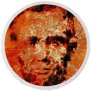 Abraham Lincoln 4d Round Beach Towel
